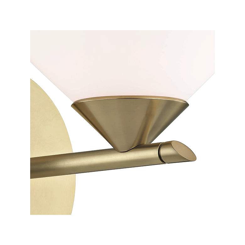 "Mitzi Valerie 7"" High Aged Brass Wall Sconce more views"