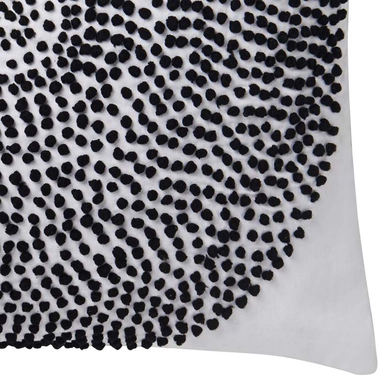 "Justina Blakeney Natural and Black 22"" Square Throw Pillow more views"