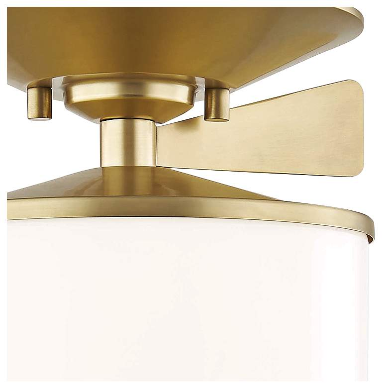 "Mitzi Audrey 7 1/2"" Wide Aged Brass Ceiling Light more views"