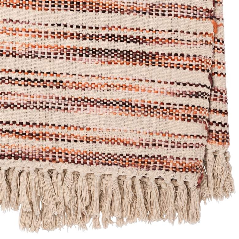 Loloi Kyra Ivory and Brick Throw Blanket more views