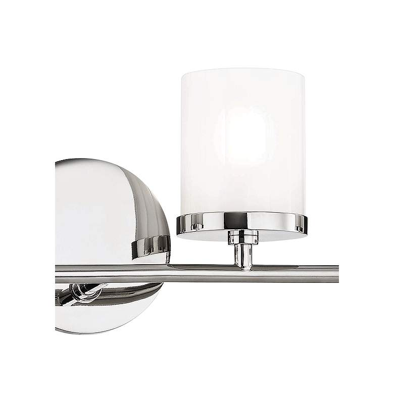 "Mitzi Ryan 24 3/4"" Wide Polished Nickel 4-Light Bath Light more views"