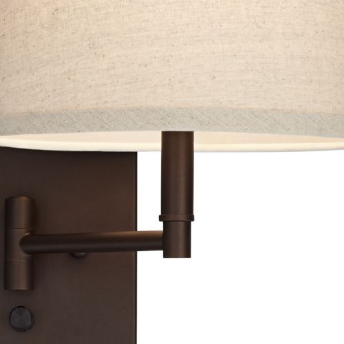 Lanett Painted Bronze Plug-In Swing Arm Wall Lamp Set of 2