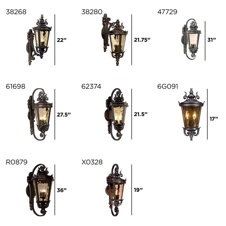 "Casa Marseille 31"" High Large Bronze Outdoor Wall Light more views"