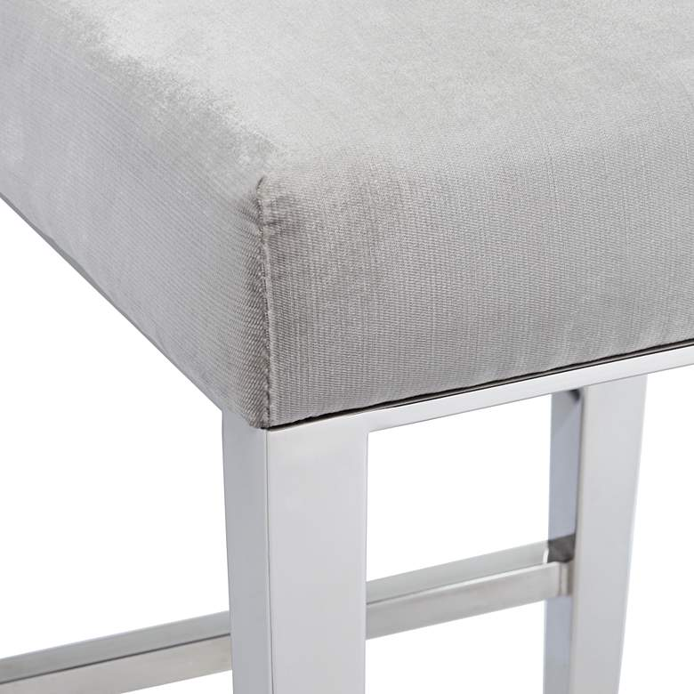 "Megan 27 1/4"" Gray Tufted Back Counter Stool more views"