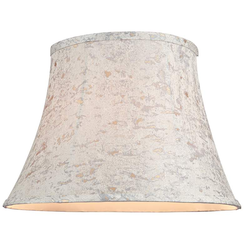 Taupe w/ Gold Weave Speck Bell Lamp Shade 10x16x11 (Spider) more views