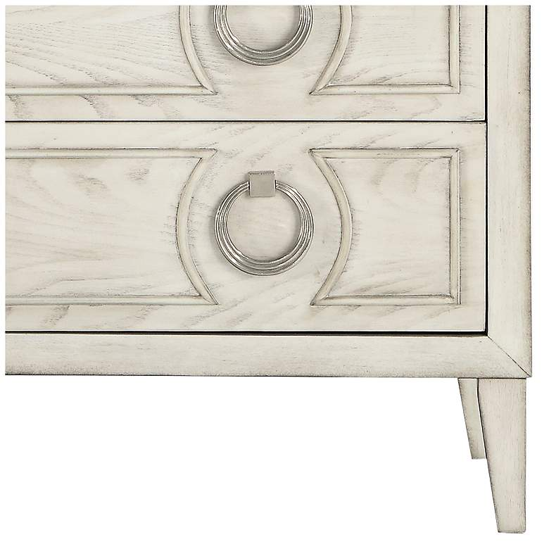 "Reeds 39 1/2"" Wide White Wood 3-Drawer Accent Chest more views"