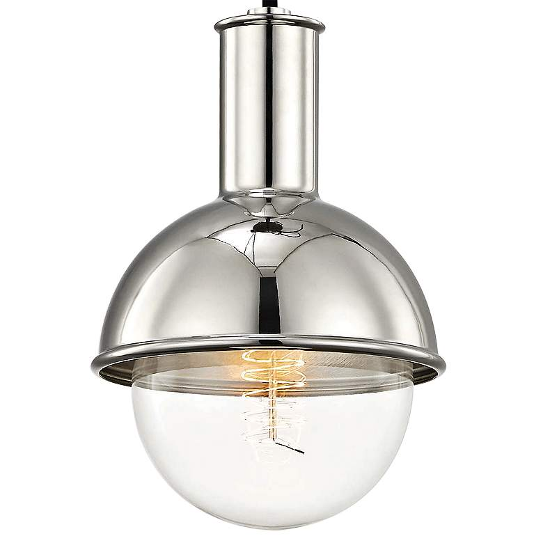 "Mitzi Riley 6 1/4"" Wide Polished Nickel Mini Pendant more views"