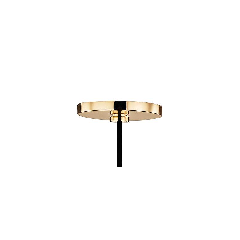 "Mitzi Via 5"" Wide Polished Brass and Black Mini Pendant more views"