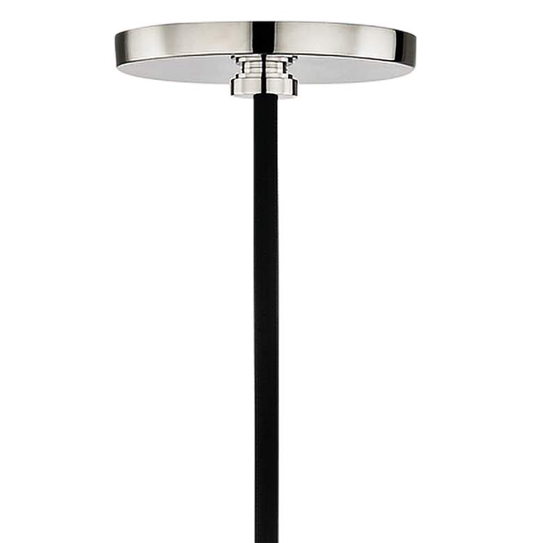 "Mitzi Via 5"" Wide Polished Nickel and Black Mini Pendant more views"