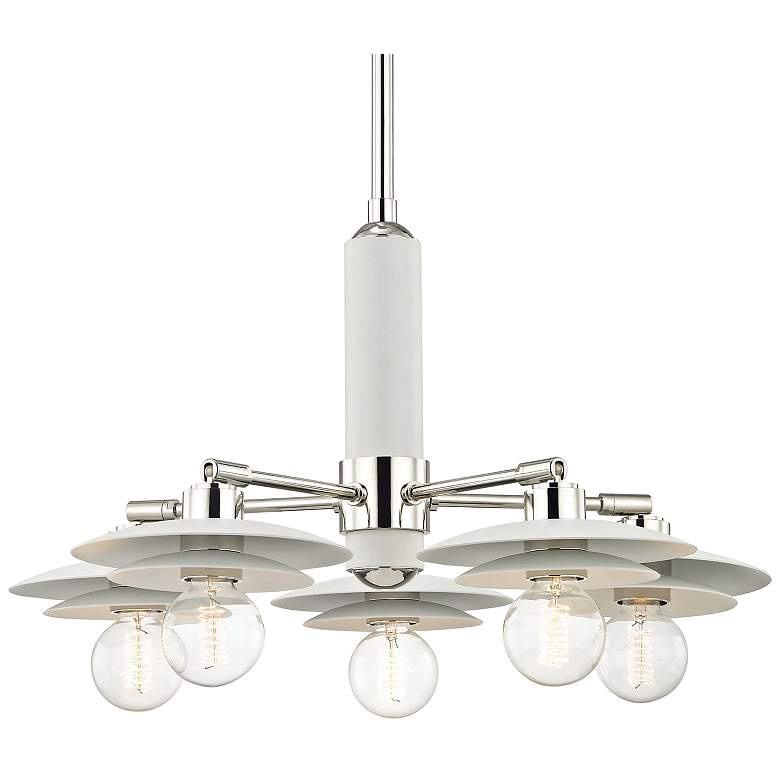 "Mitzi Milla 25 1/2"" Wide Polished Nickel 5-Light Chandelier more views"
