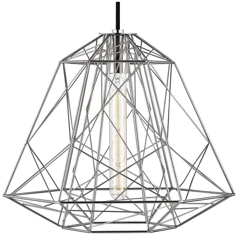 "Mitzi Ani 15 1/2"" Wide Polished Nickel Pendant Light more views"