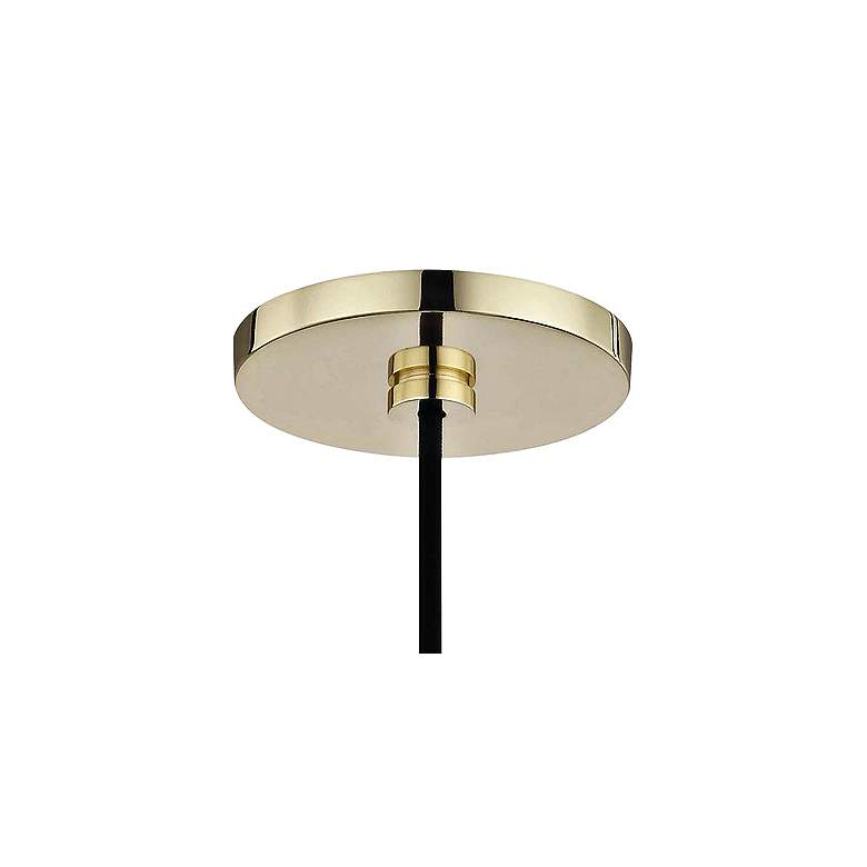 "Mitzi Heidi 5 1/2"" Wide Polished Brass Mini Pendant more views"
