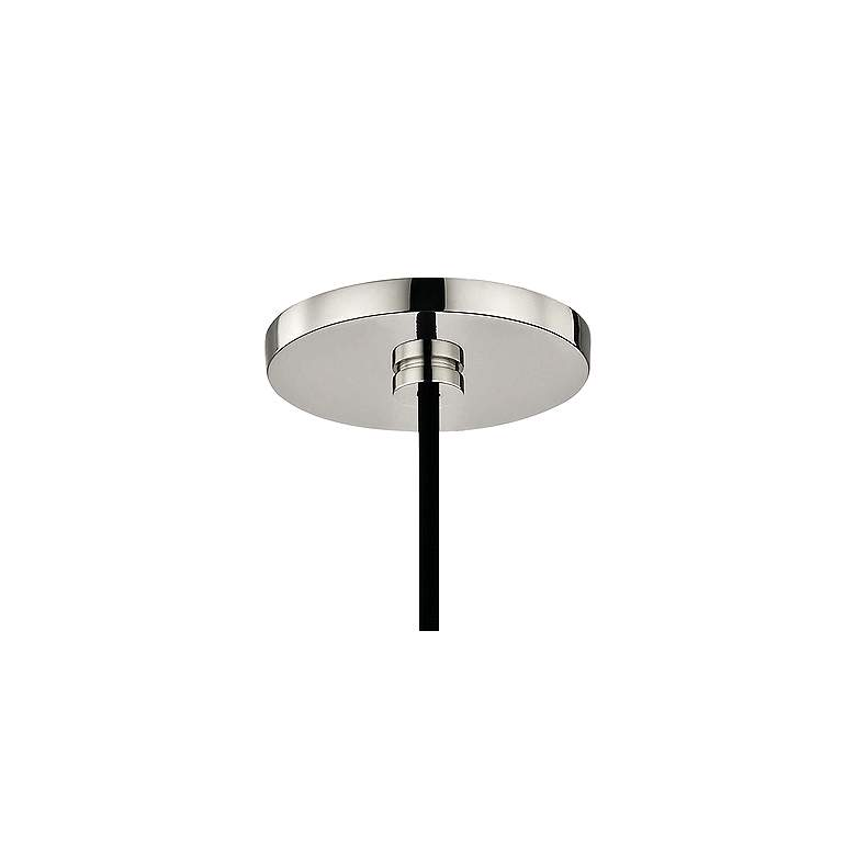 "Mitzi Milo 14"" Wide Polished Nickel and Black Pendant Light more views"
