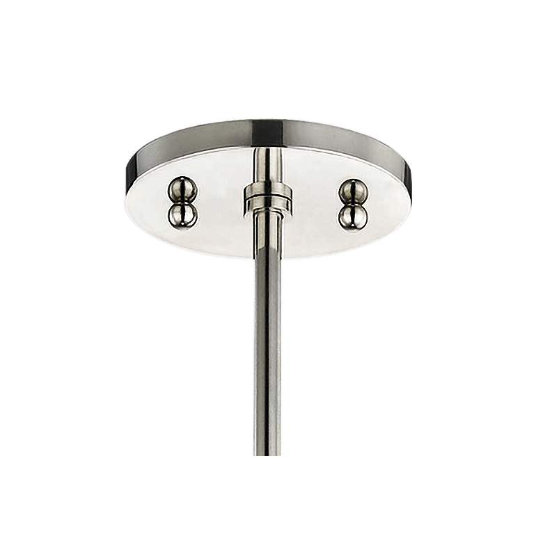 "Mitzi Dana 11 3/4""W Polished Nickel and Black Mini Pendant more views"