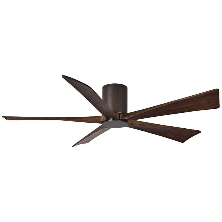 "60"" Matthews Irene-5HLK Bronze Hugger LED Ceiling Fan more views"