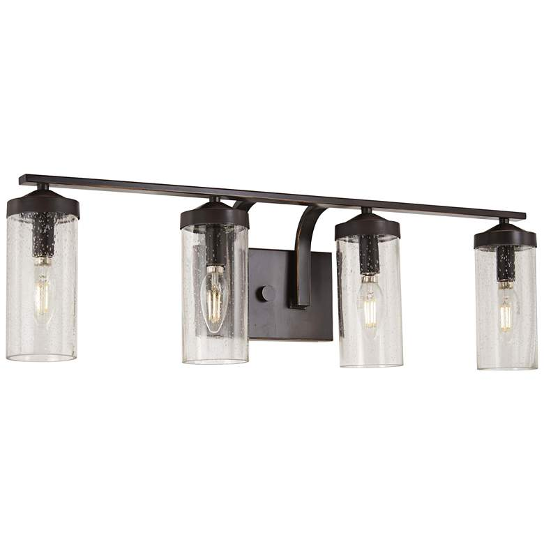 "Elyton 28 3/4"" Wide Downtown Bronze 4-Light Bath Light more views"