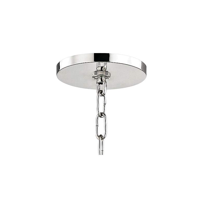 "Leigh 11 1/2""W Polished Nickel and Mint 4-Light Mini Pendant more views"