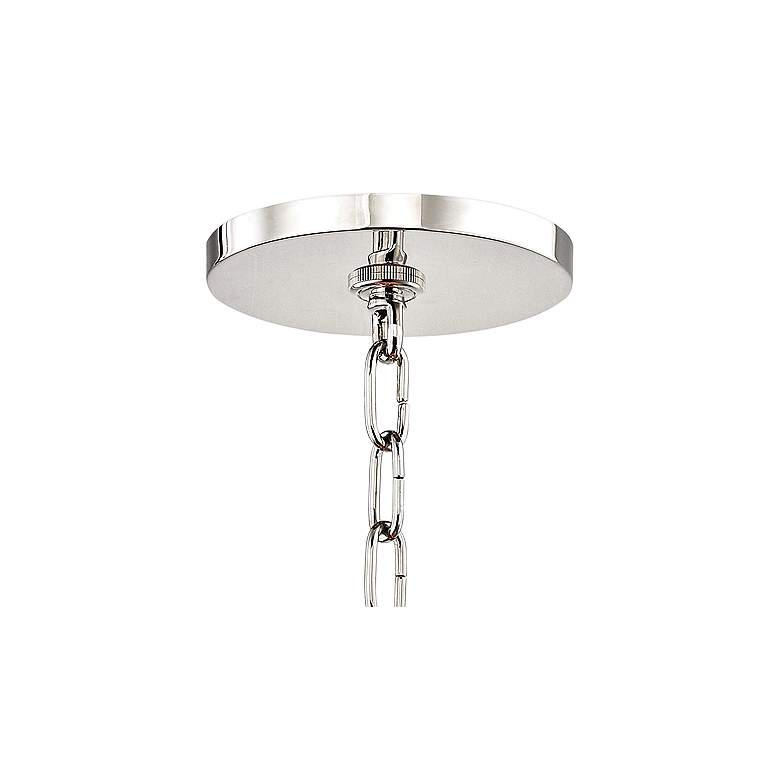 "Leigh 11 1/2""W Polished Nickel and Pink 4-Light Mini Pendant more views"