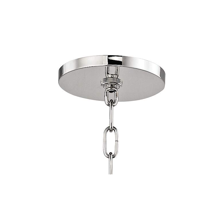 "Leigh 11 1/2"" Wide Nickel and White 4-Light Mini Pendant more views"