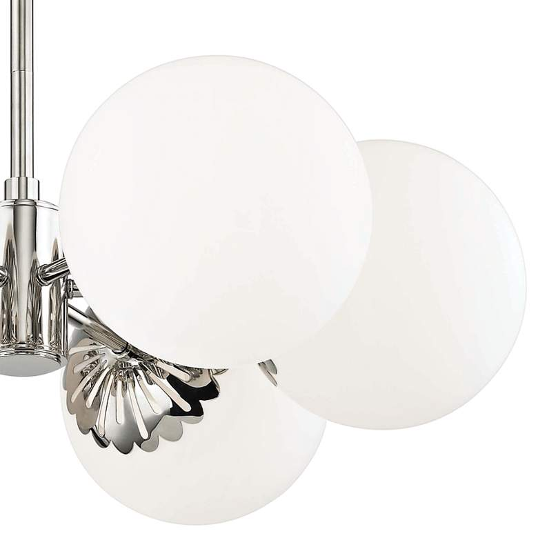 "Mitzi Paige 26"" Wide Polished Nickel 6-Light Chandelier more views"