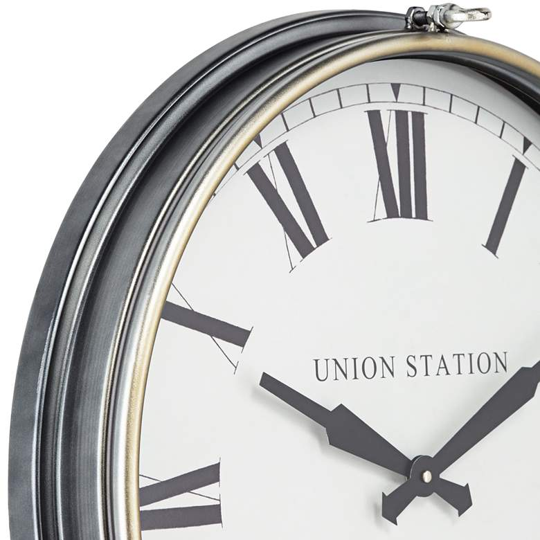 "Union Station 21 1/4"" High Classic Train Wall Clock more views"