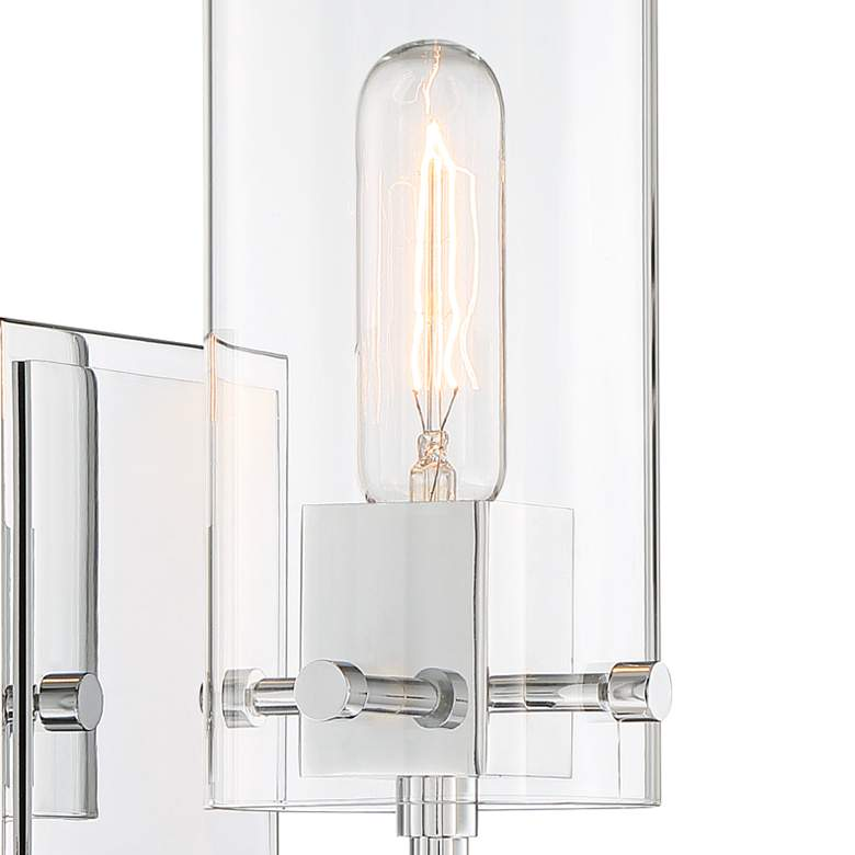 "Possini Euro Metis 11"" High Chrome Wall Sconce more views"