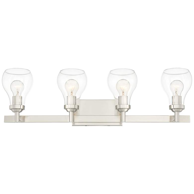 "Possini Euro Danvers 29""W Brushed Nickel 4-Light Bath Light more views"