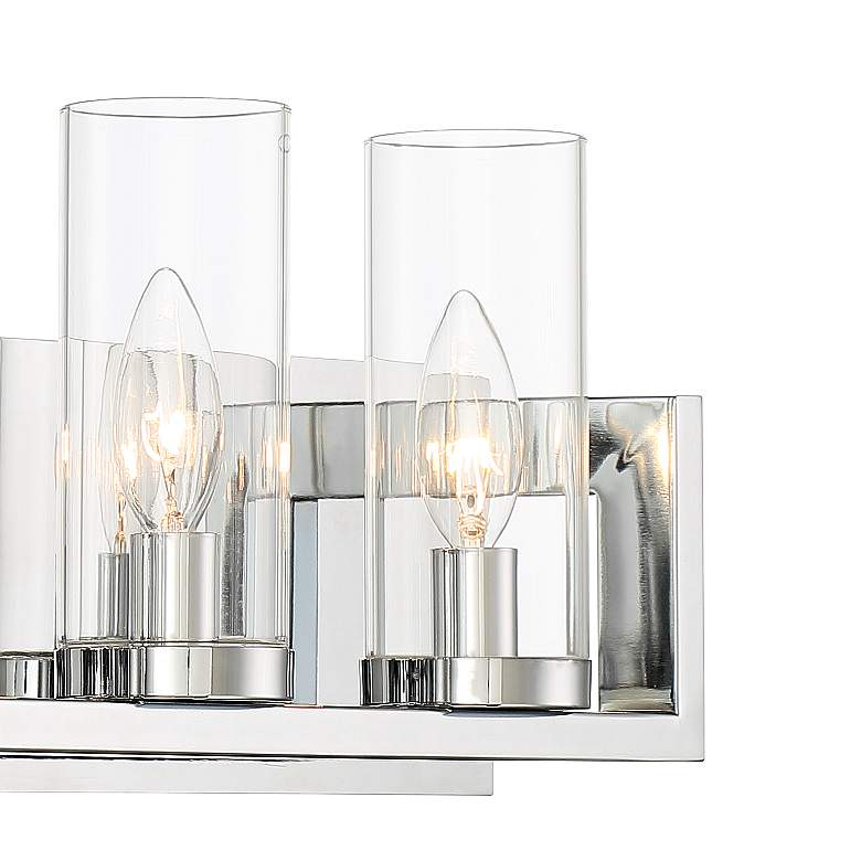 "Possini Euro Alexius 25"" Wide Chrome 4-Light Bath Light more views"