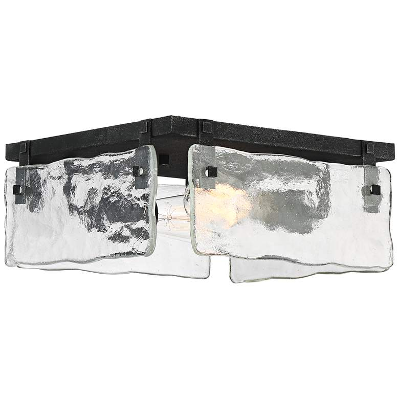 "Cassington 11 3/4"" Wide Glass Square 2-Light Ceiling Light more views"