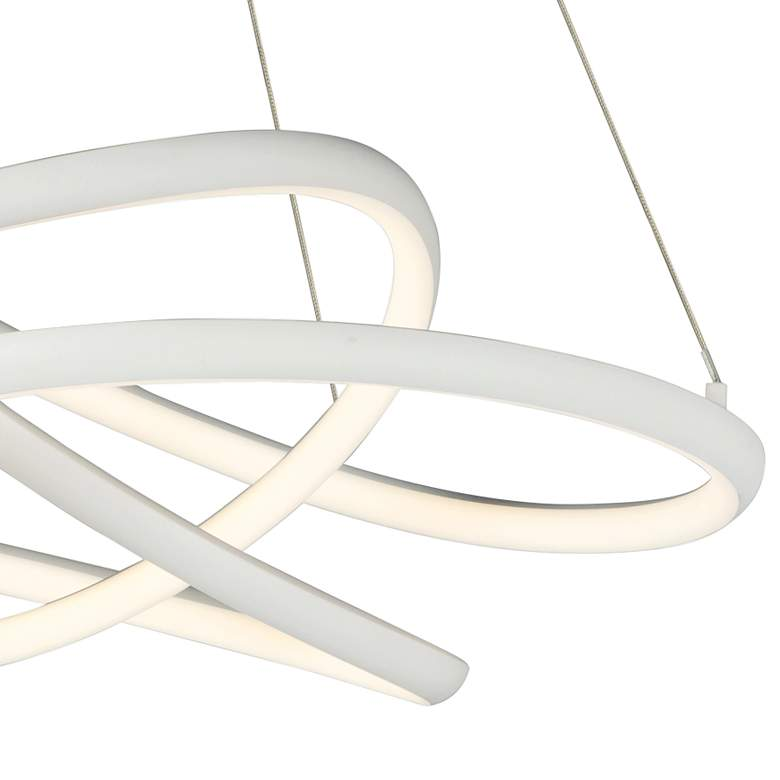 "ET2 Twisted 24 1/2"" Wide Matte White LED Pendant Light more views"