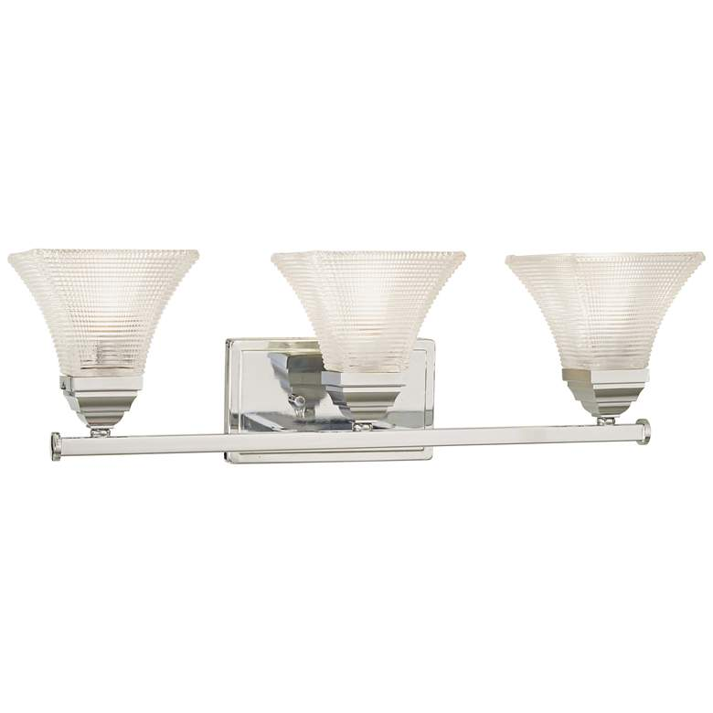 "Conspire 24"" Wide Chrome 3-Light Bath Light more views"