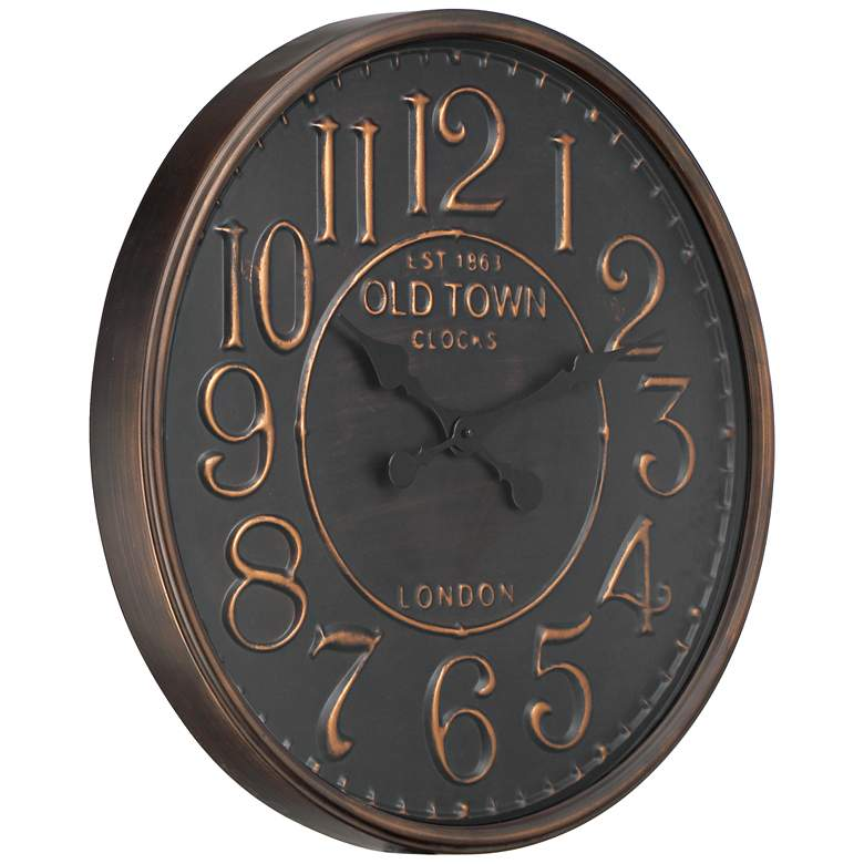 "1863 Old Town London 23 1/2"" Wide Rustic Vintage Wall Clock more views"