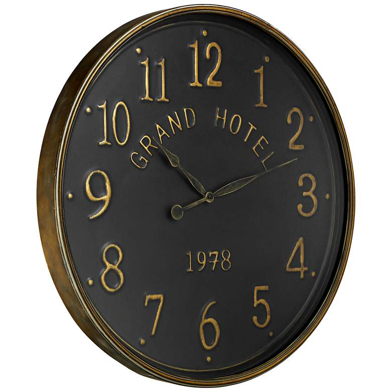 "Grand Hotel 1978 Black 28 1/4"" Round Wall Clock more views"