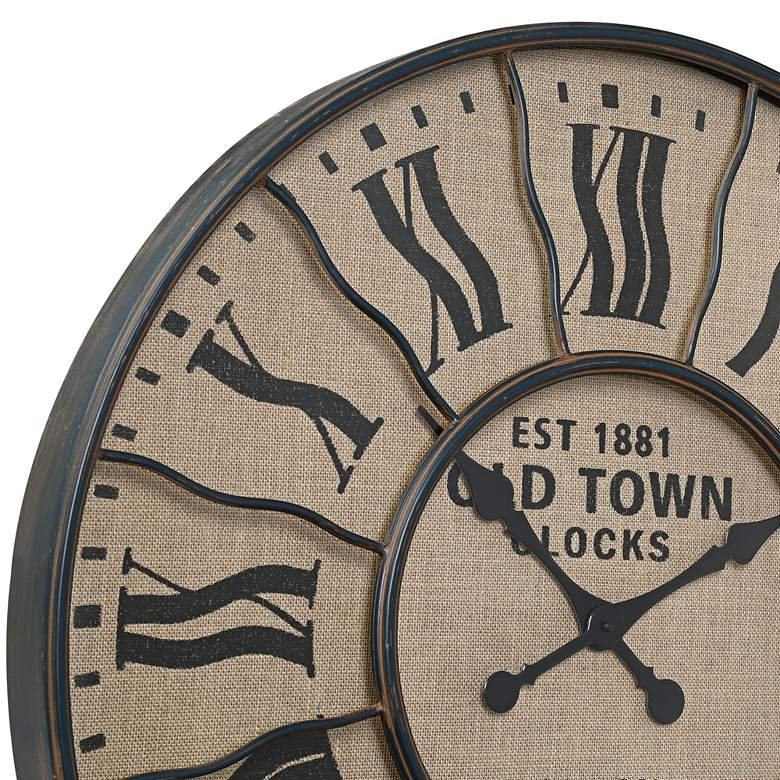 "EST 1881 Old Town London 31 1/2"" Round Wall Clock more views"