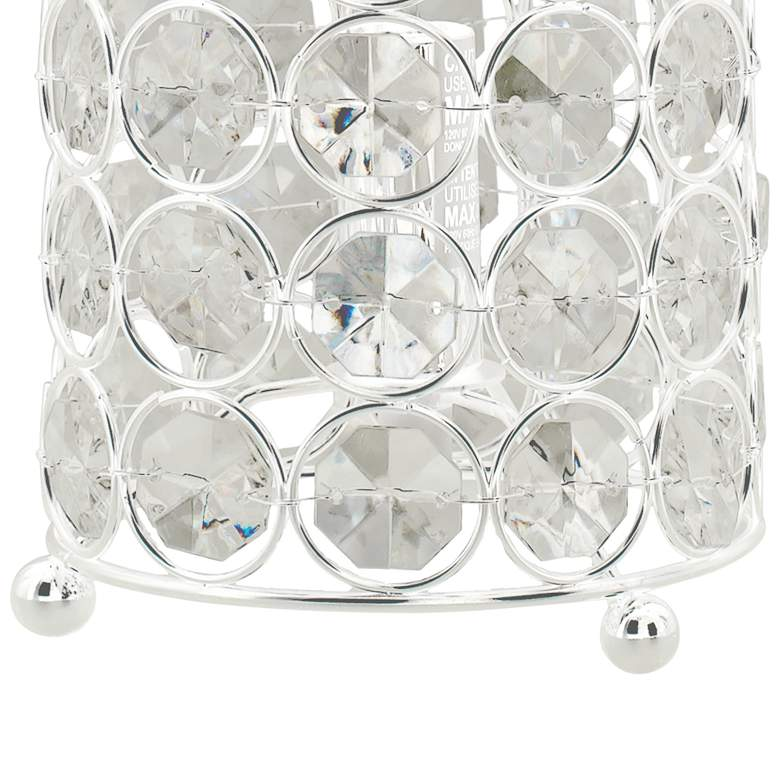 "Kyla 11""H Clear Acrylic and Nickel Accent Uplight Table Lamp more views"