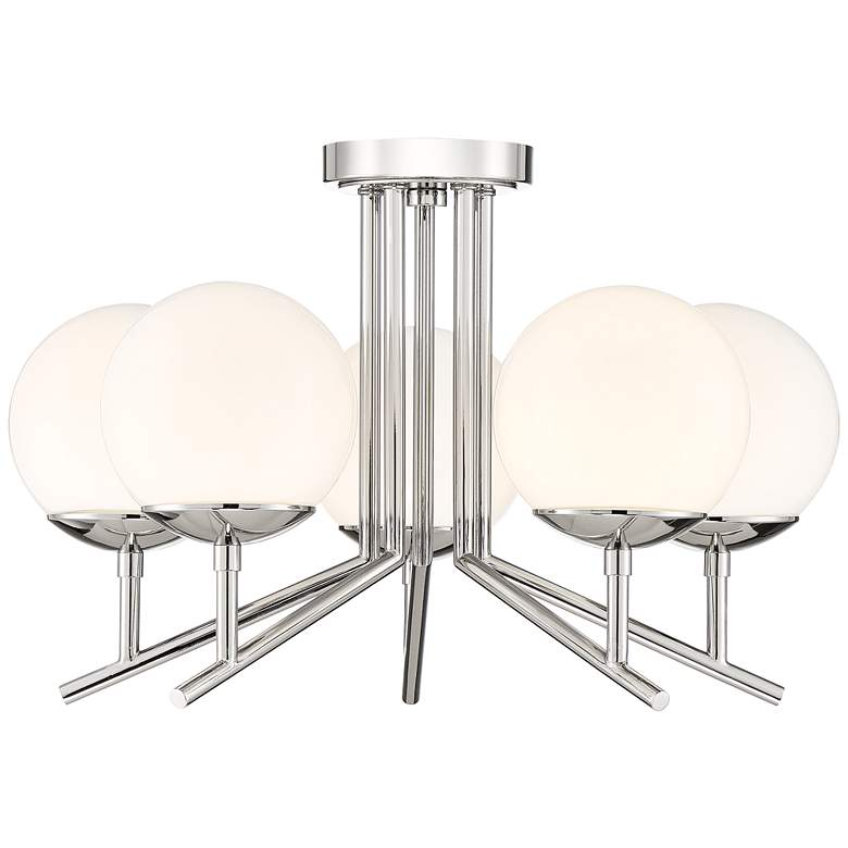 "Catherine 20 1/2"" Wide Polished Nickel 5-Light Ceiling Light more views"