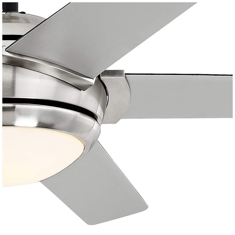 "52"" Casa Probe III Brushed Nickel LED Ceiling Fan more views"