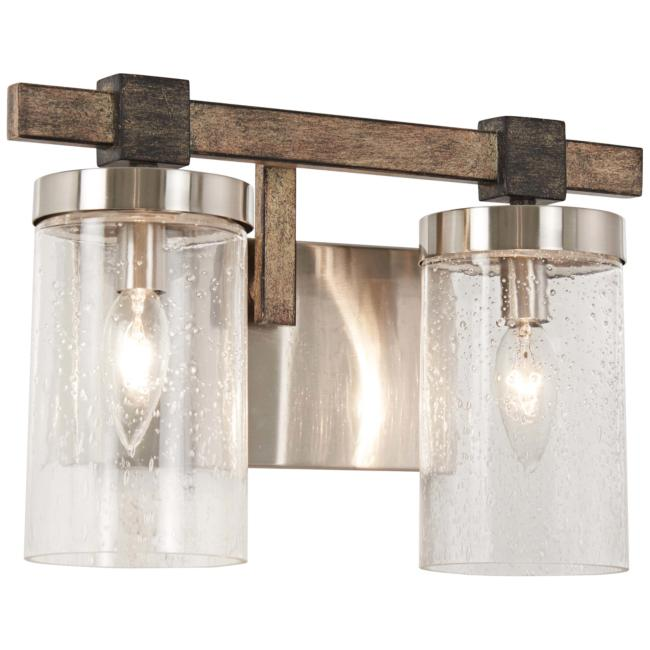 "Bridlewood 8 3/4"" High Brushed Nickel 2-Light Wall Sconce"