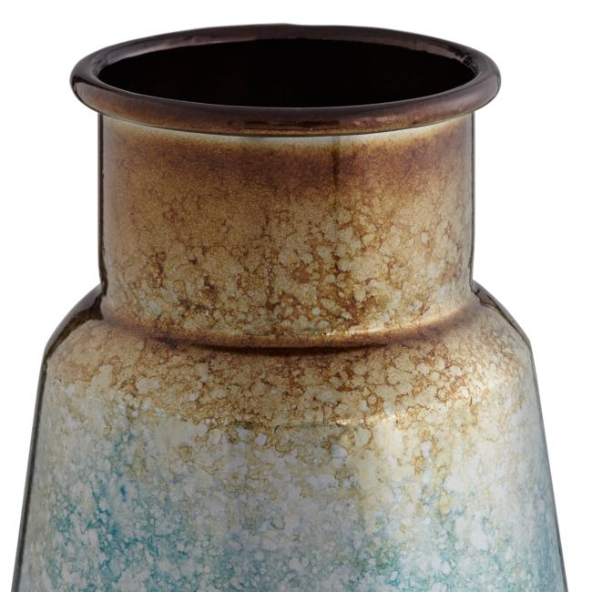 "Carmen 14 1/2"" and 12""H Blue Copper Modern Vases Set"