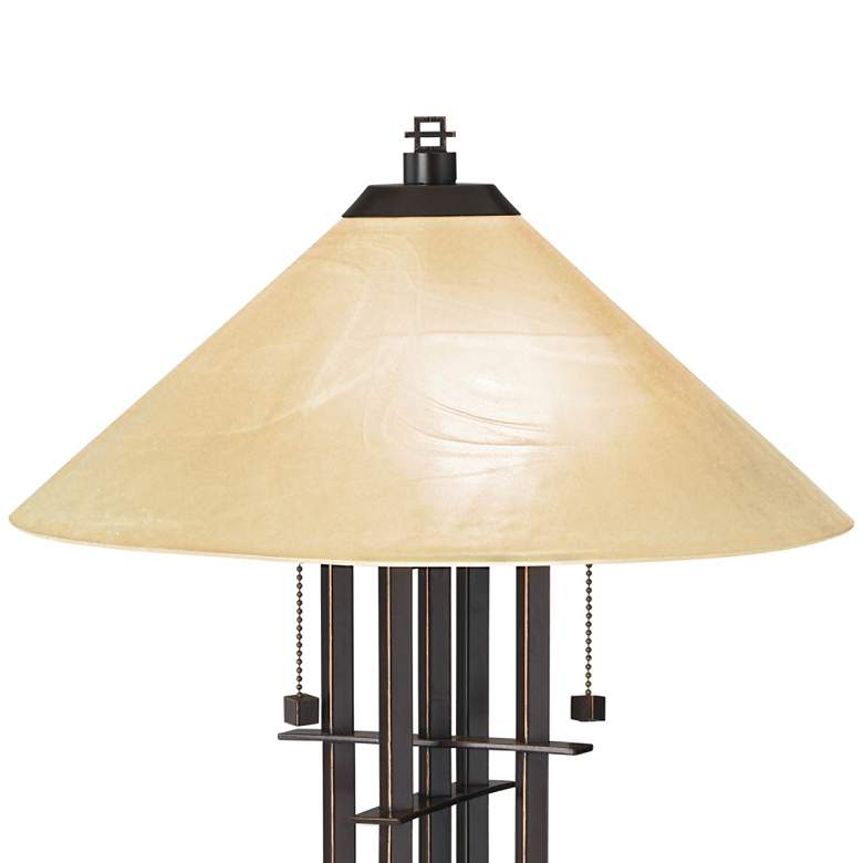 Metro Collection Planes 'n' Posts Art Glass Table Lamp more views