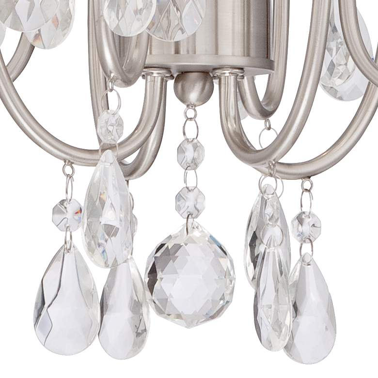 "Kathy Ireland Hollis 15""W Crystal Swag Plug-In Chandelier more views"