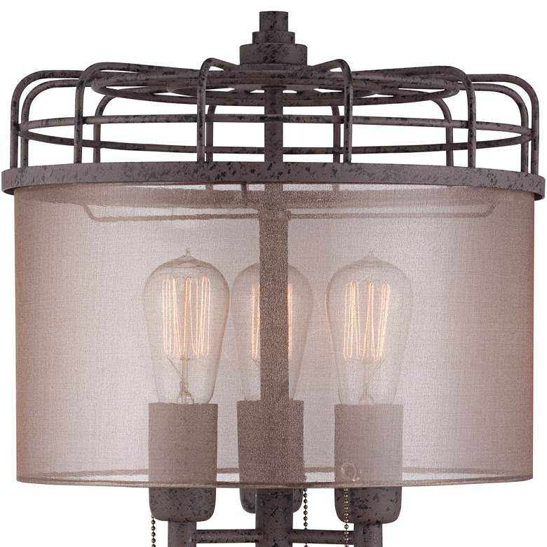 Lock Arbor Industrial Cage Metal Table Lamp more views