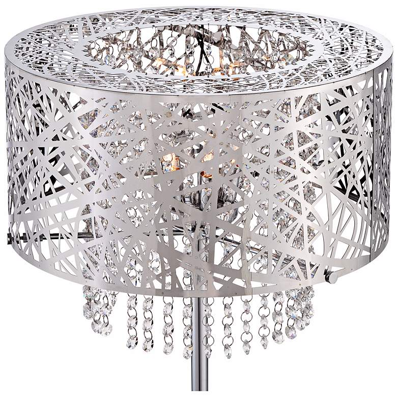 Possini Euro Chrome Nest Crystal Chandelier Floor Lamp more views