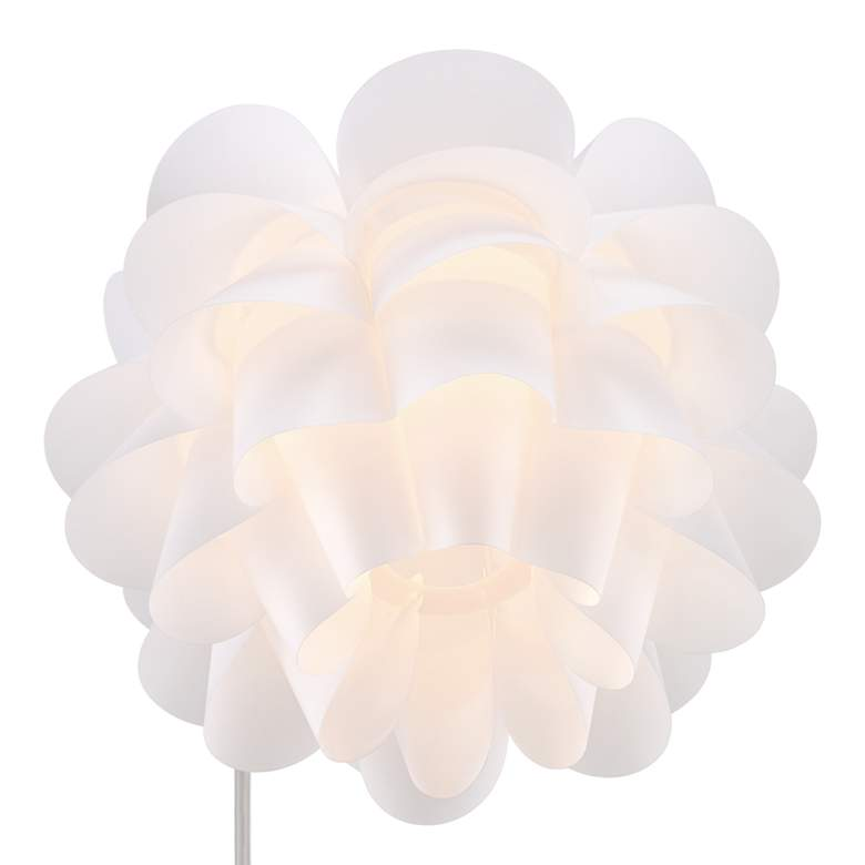 Possini Euro White Flower Arc Floor Lamp more views