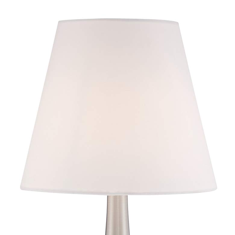 "Brushed Nickel Finish 19"" High Touch On-Off Table Lamp more views"