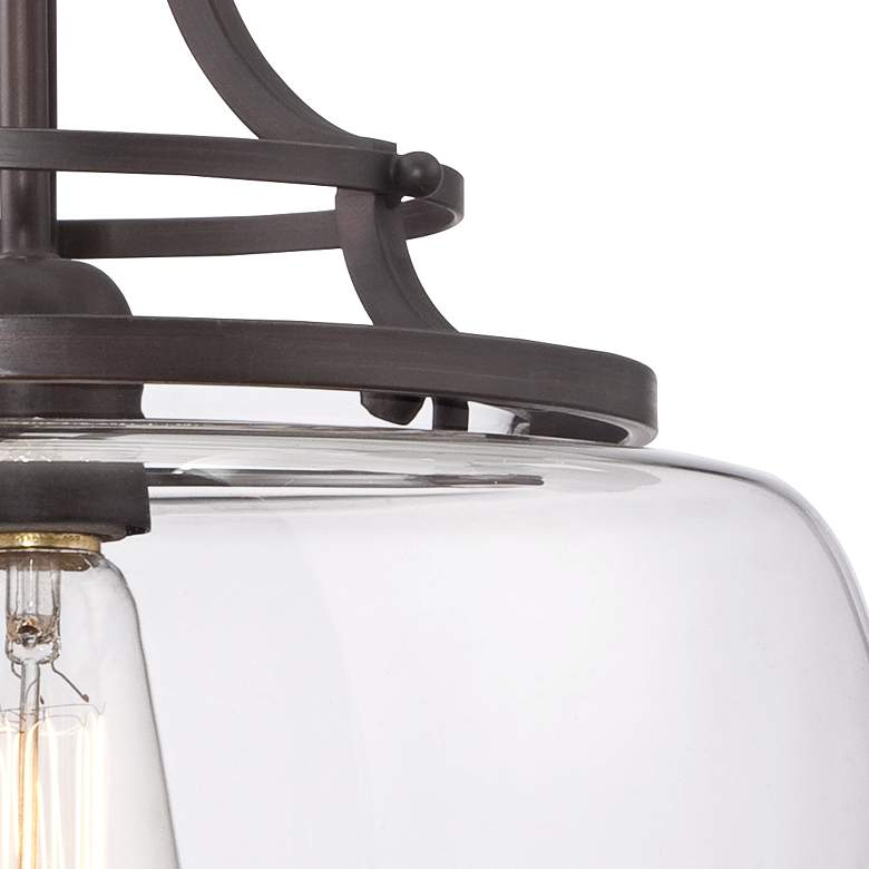 "Charleston 13 1/2"" Wide Clear Glass and Bronze Pendant Light more views"