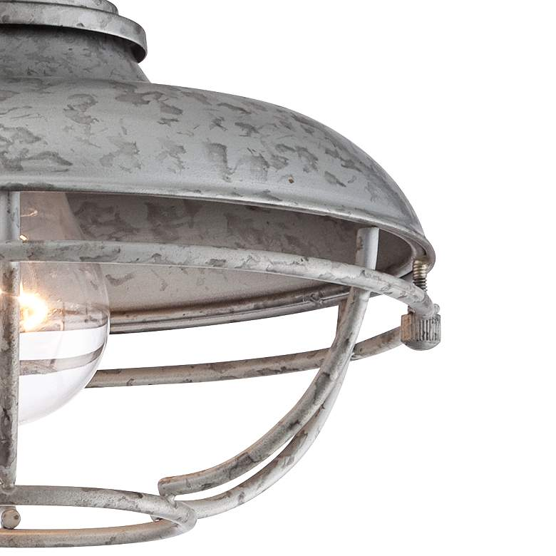 "Franklin Park 8 1/2"" Wide Galvanized Outdoor Ceiling Light more views"