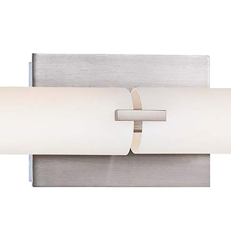 "George Kovacs 39 1/2"" Wide LED Brushed Nickel Bathroom Light more views"