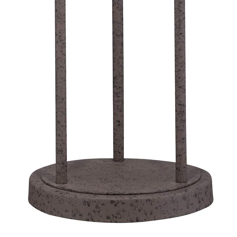 Industrial Cage Rust Metal Floor Lamp more views