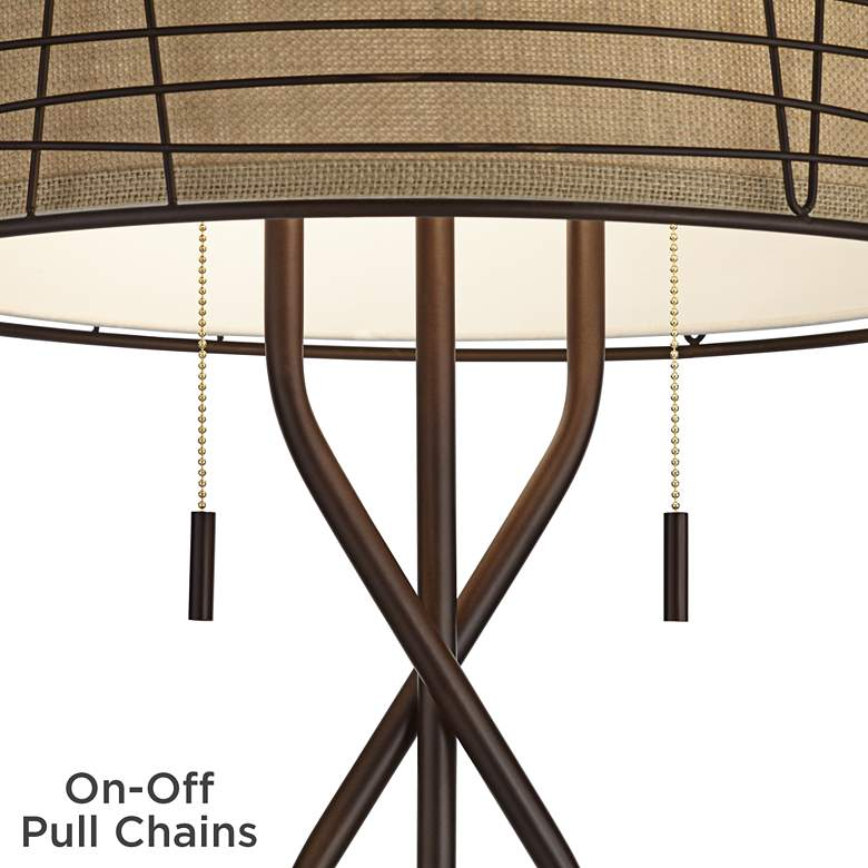 Marlowe Bronze Woven Metal Floor Lamp by Franklin Iron Works more views